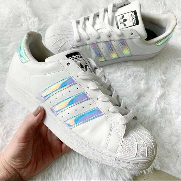 adidas Shoes - Adidas Superstar Custom Holographic Sneakers 6.5